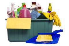4 καθαρίζοντας προμήθειες Στοκ φωτογραφία με δικαίωμα ελεύθερης χρήσης