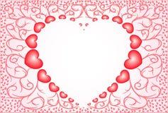 4 καρδιές nacreous διανυσματική απεικόνιση