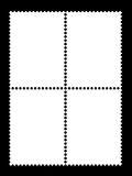 4 κενά πρότυπα γραμματοσήμων Στοκ Εικόνες