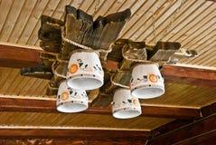 4 λαμπτήρες πολυελαίων ξύ&lam Στοκ φωτογραφία με δικαίωμα ελεύθερης χρήσης