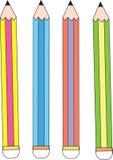 4 μολύβια διανυσματική απεικόνιση
