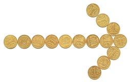 4 νομίσματα Στοκ φωτογραφία με δικαίωμα ελεύθερης χρήσης