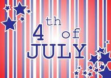 4$ος ευτυχής Ιούλιος ελεύθερη απεικόνιση δικαιώματος