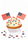 4$ος cupcake Ιούλιος Στοκ φωτογραφία με δικαίωμα ελεύθερης χρήσης