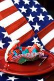 4$ος cupcake Ιούλιος yummy Στοκ φωτογραφίες με δικαίωμα ελεύθερης χρήσης