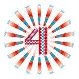 4$ο λευκό Ιουλίου ανασκόπησης Στοκ Εικόνα