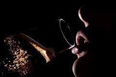 4 πίνοντας γυναίκα σκιαγρ&al Στοκ εικόνες με δικαίωμα ελεύθερης χρήσης