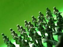 4 πράσινοι στρατιώτες Στοκ Φωτογραφία