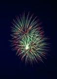 4 πυροτεχνήματα Στοκ Εικόνες