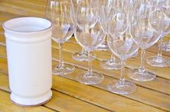 4 σειρές δοκιμάζοντας κρασιού Στοκ φωτογραφίες με δικαίωμα ελεύθερης χρήσης