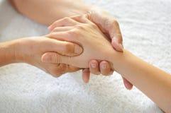 4 σειρές reflexology χεριών Στοκ φωτογραφία με δικαίωμα ελεύθερης χρήσης