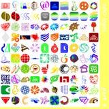 4 σημάδια λογότυπων Στοκ Φωτογραφίες