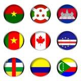 4 σημαίες που τίθενται απεικόνιση αποθεμάτων
