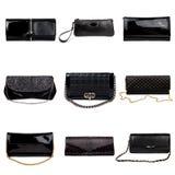 4 σκοτεινά θηλυκά πορτοφόλια Στοκ Φωτογραφίες