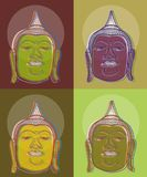 4 τέχνη Βούδας λαϊκός απεικόνιση αποθεμάτων