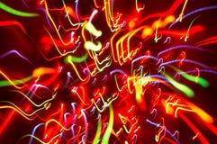 4 χρωματισμένη θαμπάδες ελαφριά κίνηση Στοκ Φωτογραφία