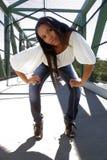 4 όμορφο κορίτσι Αϊτινός υπ&alpha Στοκ Φωτογραφίες
