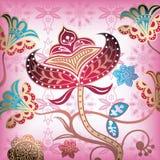 4 абстрактных флористического иллюстрация штока