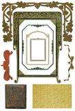 4 античных элемента конструкции Стоковое Изображение RF