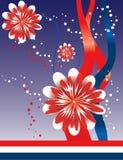 4-ая абстрактная предпосылка флористический июль Стоковое Изображение RF