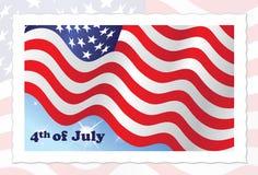 4-ая американская независимость июль флага дня иллюстрация штока