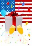 4-ая предпосылка празднуя иллюстрацию июль Стоковое Изображение RF