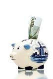 4 банк голубой delft piggy Стоковое Фото