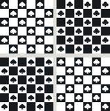 4 безшовных трилистника текстур лопат Стоковая Фотография RF