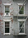 4 белых окна Стоковое фото RF