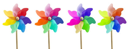4 ветрянки игрушки Стоковые Изображения