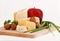 4 вида сыра Стоковые Изображения