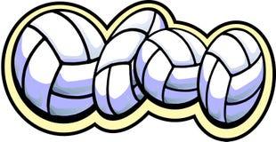 4 волейбола Стоковое Изображение