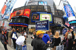 4 времени квадрата nyc 2008 ноября Стоковые Изображения