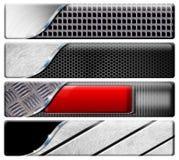4 горизонтальных коллектора металла Стоковые Фотографии RF
