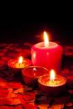 4 горящих свечки Стоковые Фото