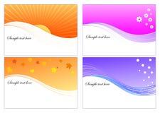 4 графических сезона плана Стоковое фото RF