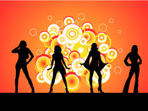 4 девушки горячей Стоковое Фото