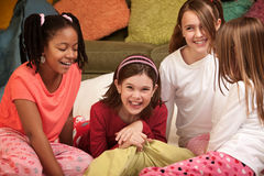 4 девушки немногая Стоковые Фото
