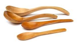 4 деревянных ложки Стоковая Фотография