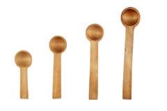 4 деревянных ложки Стоковое Изображение
