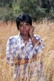 4 детеныша женщины красивейших травы высокорослых Стоковые Фотографии RF