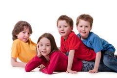4 дет счастливого Стоковые Изображения
