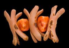 4 зажаренного frankfurters Стоковые Фото