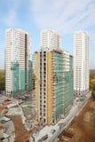 4 здания под конструкцией Стоковая Фотография RF
