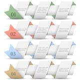 4 знамени origami бумажных пронумерованных Стоковые Фото