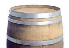 4 изолированное бочонками вино дуба белое Стоковая Фотография RF