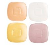 4 изолированных плиты белой Стоковая Фотография RF
