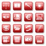 4 иконы разделяют сеть Стоковое Изображение