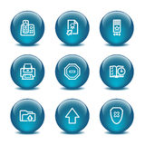 4 иконы шарика стеклянных установили сеть Стоковое Изображение RF