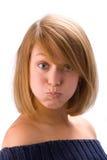 4 кавказских детеныша женщины выразительных стороны Стоковые Изображения